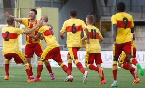 Il Benevento celebra la prima vittoria stagionale