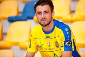 Il talentuoso croato Vukusic con la maglia della formzione belga del Waasland Beveren