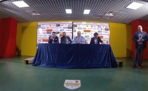 La rinnovata sala stampa dello stadio San Filippo