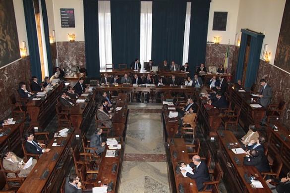 L'aula del consiglio comunale di Messina