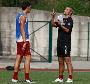 Lorenzo Burzigotti a colloquio con lex tecnico della Reggina Atzori
