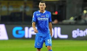 Luca Martinelli con la maglia dell'Empoli