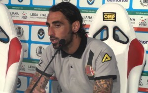 Matteo Guazzo in conferenza stampa con l'Alessandria