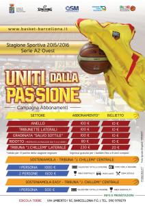 Uniti dalla passione, campagna abbonamenti Basket Barcellona