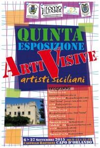 """La locandina della """"V esposizione Arti Visive Artisti Siciliani"""""""