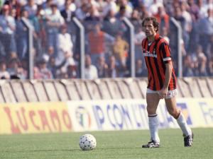 Franco Baresi con la maglia del Milan