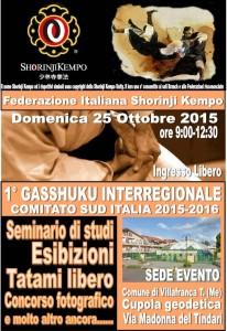 Il programma del gasshuku di Villafranca Tirrena