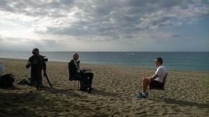 Il giornalista Bonfardeci e coach Griccioli