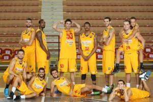 Foto di squadra del Basket Barcellona
