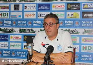 Giulio Griccioli in conferenza