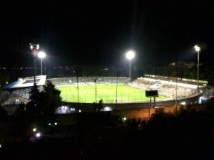 """Lo stadio """"Degli Ulivi"""" di Andria"""