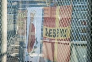 Gli striscioni dei tifosi siciliani