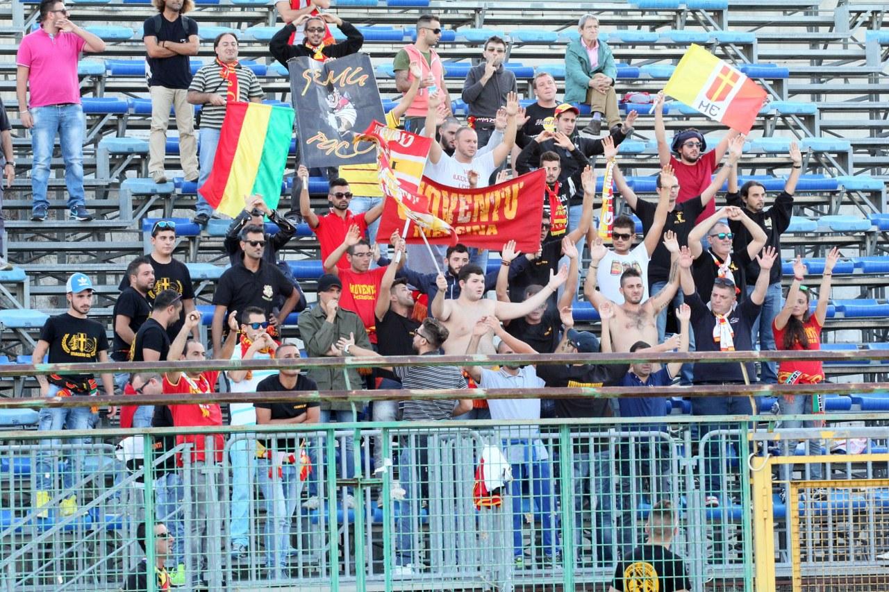 I tifosi del Messina presenti anche a Pagani