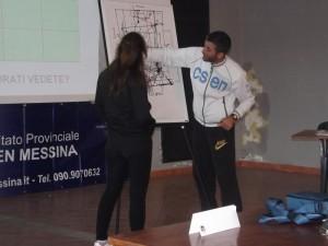 Giuseppe Trovato durante le lezioni al corso arbitri Csen