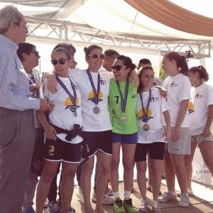 La premiazione delle ragazze dell'ASD Handball Messina
