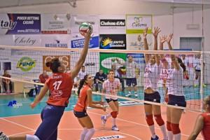 Ruberti in azione nel corso del match vinto a Maglie dal Mam Volley