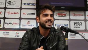 Alessio Viola del Foggia in conferenza