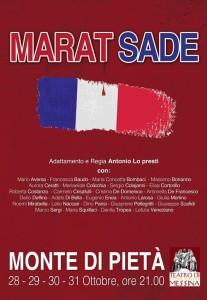 """La locandina di """"Marat Sade"""""""