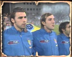 Con la maglia azzurra nel 2004