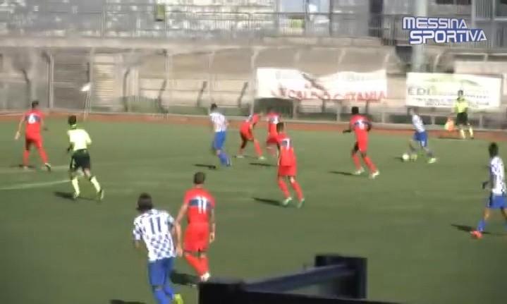 Una fase del match tra Atletico Catania e Rocca di Caprileone