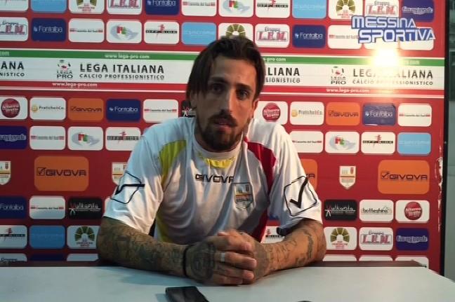 Carmine Giorgione nella sala stampa del Celeste