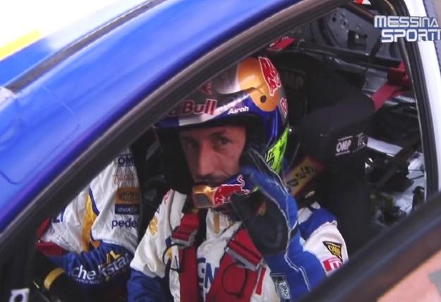 Tony Cairoli in versione pilota di rally