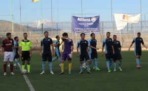 Lo Sporting Taormina schierato a centrocampo