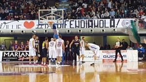 Una fase di gioco di Rieti-Barcellona