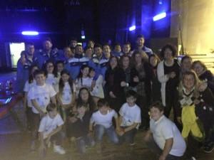 I ragazzi dell'Fp Sport impegnati nella serata benefica al teatro Vittorio Emenule