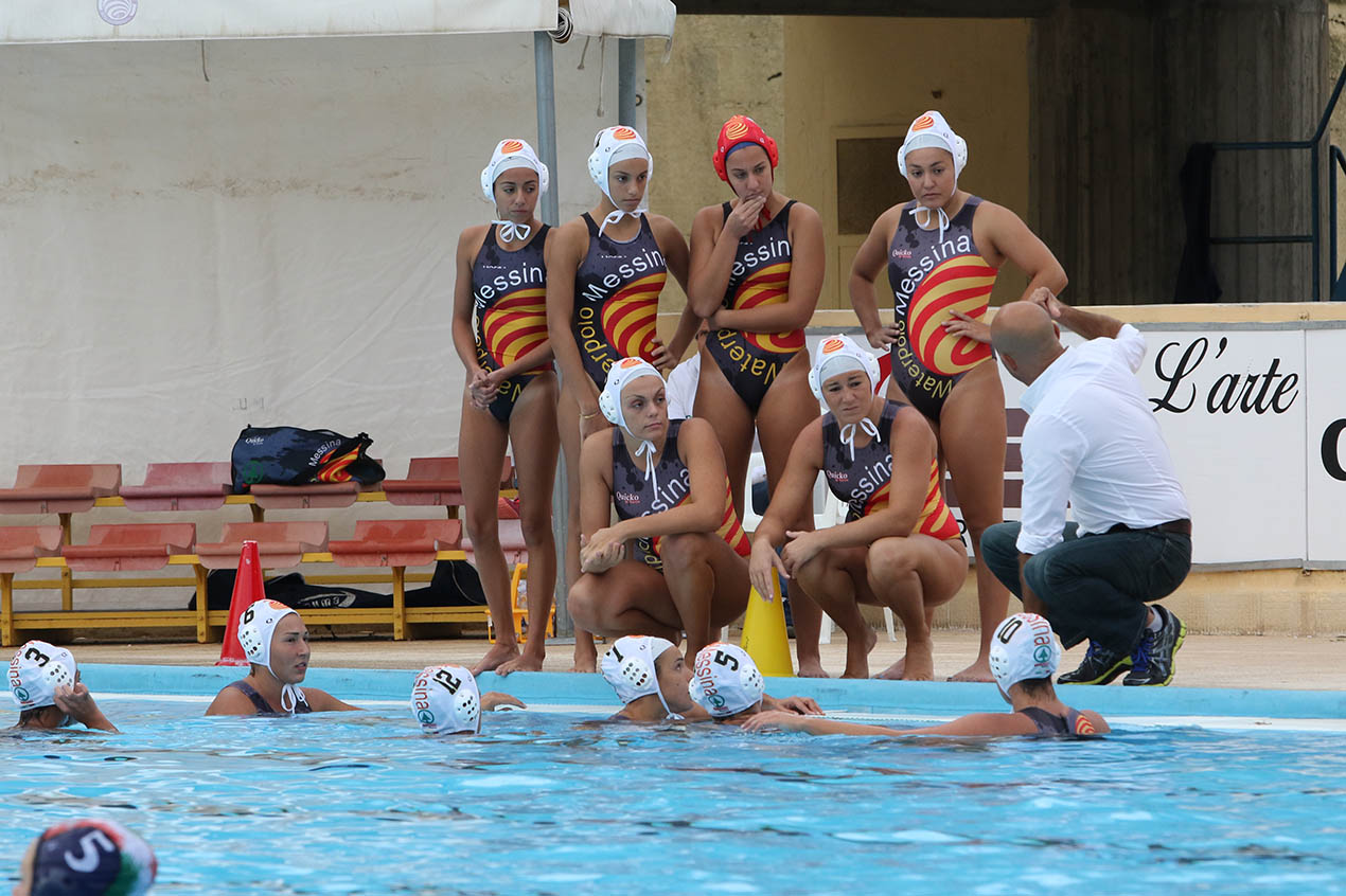 Un time out della Waterpolo