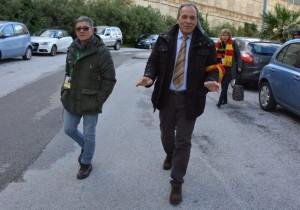 Il presidente Stracuzzi arriva allo stadio