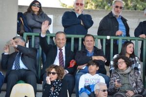Il presidente Stracuzzi in tribuna a Melfi