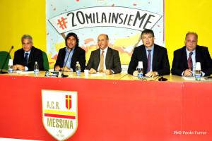 I protagonisti della conferenza stampa dedicata al progetto #20milainsieME