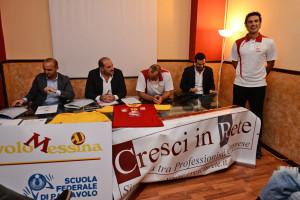Un momento della conferenza stampa tenutasi all'Hotel S. Elia