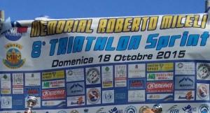 La locandina del Triathlon Sprint, giunto all'ottava edizione