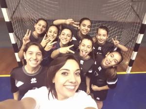 La formazione Under 6 femminile dell'Handball Messina