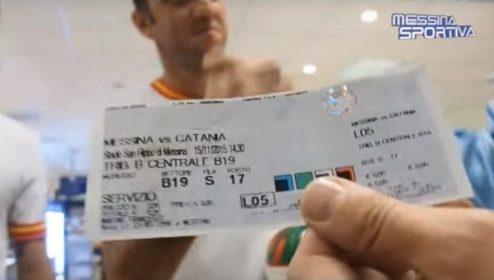 Biglietto Messina-Catania