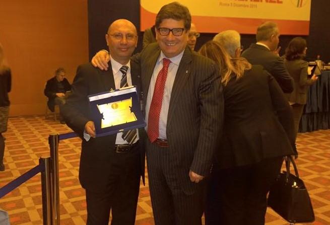 Il presidente del Rocca Giacobbe con Sandro Morgana
