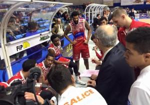 La panchina della Consultinvest Pesaro
