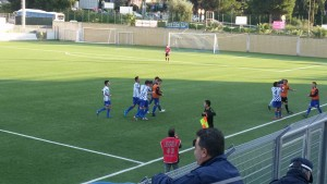 Chicco D'Anna (Rocca) festeggia il parziale 2-1
