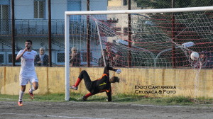 Il gol dell'1-0, siglato da Germanò