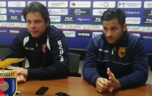Il tecnico Nicola Romaniello e l'ex Sasà D'Alterio