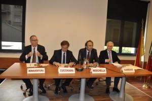 Le personalità presenti all'intitolazione aula a Boris Giuliano