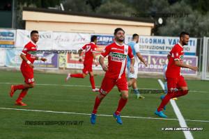 Francesco D'Anna sblocca il risultato siglando la rete dell'1-0 al 1' di gioco