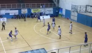 Una fase del derby fra Gruppo Zenith Messina e Nuova Agatirno