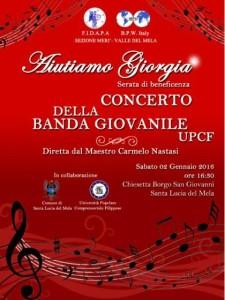 """La locandina del Concerto """"Aiutiamo Giorgia !"""""""
