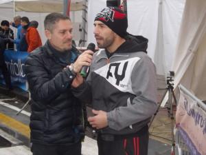 Saro Presti alla partenza della Messina Marathon