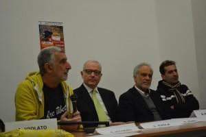Da sinistra Accorinti, Evola, Pino e Guanta
