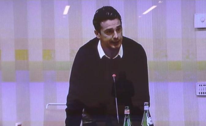 Di Napoli interviene in aula per rilasciare dichiarazioni spontanee