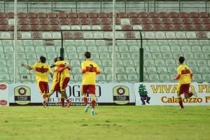 Il Benevento esulta al San Filippo